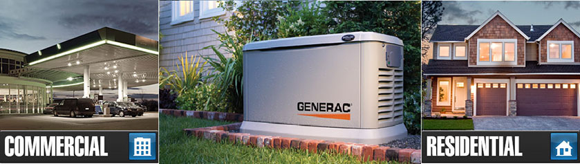 commercial and residential generator graphic