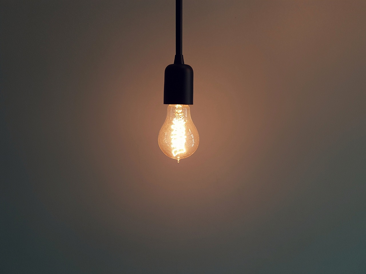 light bulb hanging from ceiling